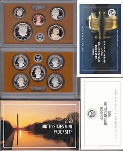 Complete 2020 US Mint Proof Set (20RG) with extra W Nickel
