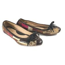 Vtg Coach Jasmine Leather Patchwork Multi Materials Lace Up Flats Shoes - 8