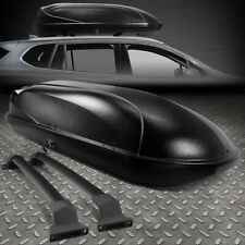 FOR 16-18 BUICK ENVISION ALUMINUM ROOF TOP RAIL CROSS BAR+CARGO BOX BLACK W/KEYS
