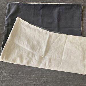 Restoration Hardware Vintage-Washed Velvet & Linen Reversible Pillow Sham-Std
