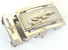Crocodile Accessory Siver Men's Auto Buckle For Belt Size 1.5
