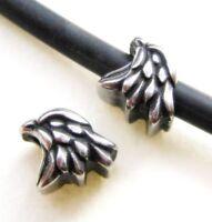 Edelstahl Perle Adler 8x10mm für Bänder 4,5mm European Beads Großloch Perlen