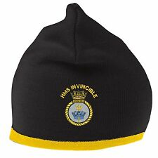 HMS Invincible Beanie Hat with Embroidered Logo