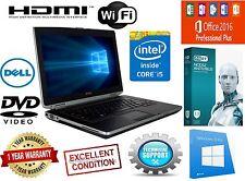 DELL Latitude Laptop Windows 10 Core I5 WEBCAM 8GB 1TB DVD WiFi OFFICE Notebook