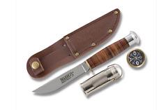 Couteau de Survie Chasse Marble's Hunter Survival Set Acier 440 Etui Cuir MR303