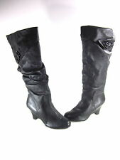 NAUGHTY MONKEY WOMEN'S PRETTY PLEASE 0635 BOOTS BLACK LEATHER US SIZE 8.5 MEDIUM