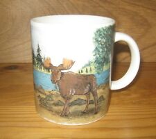 Moose, Woodpecker, Squirrel, Lake Artwork Coffee/Tea Mug--Emily Hilliger
