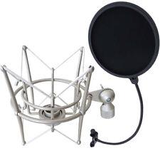KEEPDRUM ms089sv plata micrófono-araña para G-track at2020 + popschutz EMH