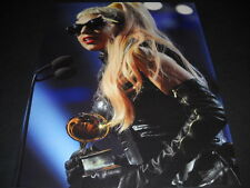 LADY GAGA w/ Grammy - Dark Glasses - Leather 2011 PROMO POSTER AD mint condition