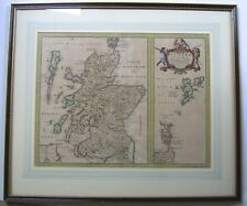 SCOZIA: Antico Mappa da Johan Blaeu, c1654