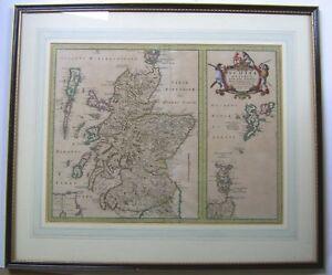 Scotland: antique map by Johan Blaeu, c1654