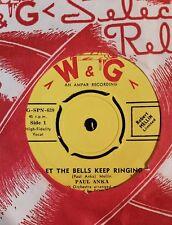 45rpm single - Paul Anka - Let The Bells Keep Ringing/Crazy Love (M-)