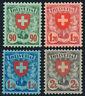 SCHWEIZ 1924, MiNr. 194-197 x, tadellos postfrisch, FA Liniger, Mi. 400,-