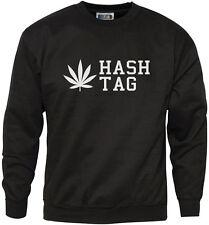 Hash Tag Weed Cannabis Mens Sweatshirt