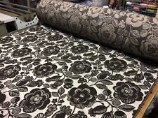 QUALITY MODERN FLORAL DARK BROWN UPHOLSTERY CURTAIN FABRIC MATERIAL SALE!