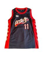VTG 90s White Champion USA Dream Team 1992 Karl Malone Jazz Basketball Jersey 44