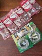 "6 pc 1-1/2"" Zinc Safety Hook & Eye for screen doors & gates + 3 pc pix hang set"
