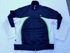 Jordan full-zip track jacket men sz M black/neon green/white