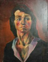EXPRESSIONIST PORTRAIT OIL PAINTING