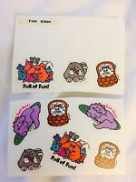 Vintage Scratch And Sniff Stickers Kitten Cat 80's Trend 1980 Sticker Lot