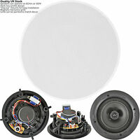 "QUALITY 8"" 120W 2 Way Low Profile Ceiling Speaker -100V 8Ohm- Wall Mount Slim"