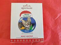 Hallmark 2017 Meowy Christmas Tree Cat Photo Holder Keepsake Ornament