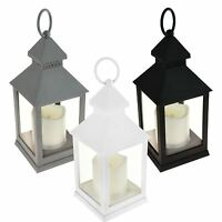Ambient LED Flickering Candle Flame Less Lantern Indoor Hanging Free Stand Décor