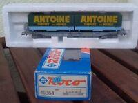 Roco 46364 Taschenwagen Antoine Transports NOVATRANS SNCF Ep.4/5 i.OVP,gebraucht