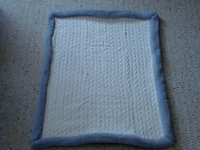 CIRCO SPECIAL LIMITED EDITION BABY BLANKET CREAM IVORY SWEATER CABLE KNIT GRAY