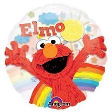 See-thru ELMO Rainbow Crayon Sesame Street Birthday Party Balloon