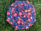 Handmade Quilted Table Runner Topper Halloween Pumpkins Fall Witch hats Brooms