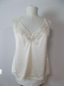 Maidenform Something Special Beige Nylon Vtg Camisole Lingerie Pajama Top, Sz 38