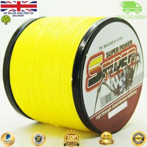 Super Dyneema 100-2000M 50LB Fishing Braid Carp Line Yellow Banana Spod Marker