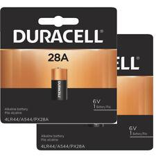2 Pcs Duracell 28A, 4LR44, A544, A28, 6V Alkaline Medical/Camera Battery
