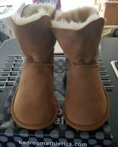 Bedroom Athletics Womens Etta Sheepskin Slipper Boots Chestnut M(UK 5/6)