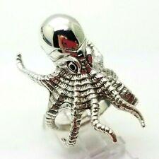 Detailed Octopus 3D Design Sterling Silver 925 Ring 13g Sz.10.75 LIV 536