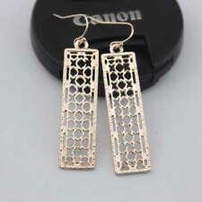 Vintage Retro Geometric Hollow Rectangle Drop Dangle Earrings Women Jewelry Gift