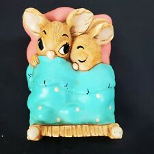 Vintage Pendelfin Rabbit Twins Blue Hand Painted Made in England Easter Guc