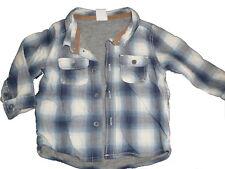 H & M tolles warmes Hemd Gr. 68 blau kariert !!