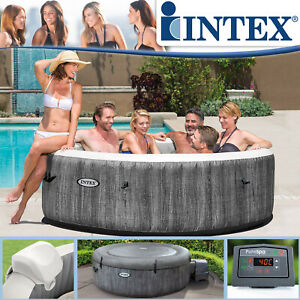 Intex Whirlpool Deluxe Ø 216x71 Spa Pool 6 Personen Badewanne Whirlwanne Massage