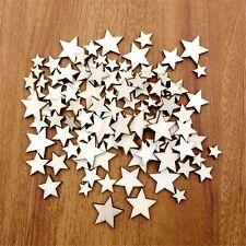 100Pcs Scrapbook Craft Button 2 Holes Buttons Star Wooden