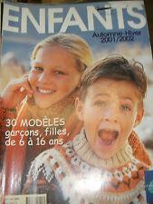 Phildar Créations N°354 Automne Hiver 2001 Enfants 30 modèles 6 à 16 ans Tricot