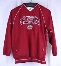 Oklahoma Sooners Fiesta Bowl 2008 Long Sleeve Lined Wind Shirt Jacket Size L