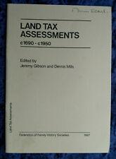 GENEALOGY: LAND TAX ASSESSMENTS c1690 - 1950 (223)