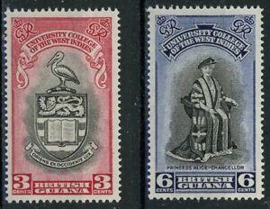 sa4745 British Guiana - Sc#250-51 Hinged with Remnants