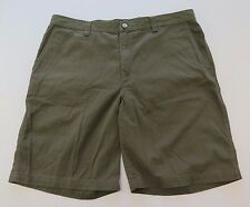 The North Face All Cotton Solid Dark Green Outdoors Hiking Casual Shorts Size 40