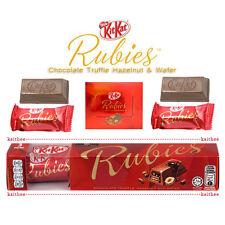 Nestle KitKat Rubies Chocolate Truffle Hazelnut & Wafer 3x11.2g =33.6g. KIT KAT
