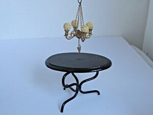 Antique  Miniature Doll House Ormolu 4  arm Chandelier
