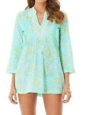 LILLY PULITZER Small Spa Blue GET CRACKIN Crab SARASOTA Lawn TUNIC Top NWT S