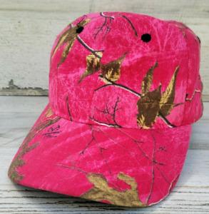 Camouflage Camo Hardwoods RealTree Women's Dark Pink Hat Cap Hunting Fishing